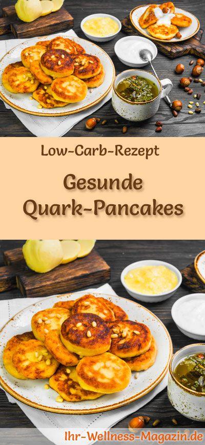 Rezept für kohlenhydratarme Quarkpfannkuchen: Kohlenhydratarmes Frühstück – Gesund, Kal …   – Low Carb Frühstück – Rezepte