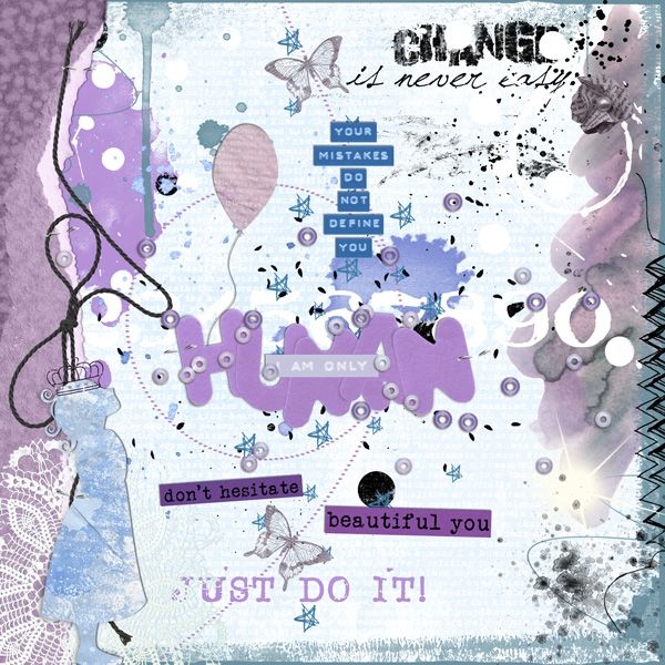 My layout for the no picture challenge at digiscrap.nl. Earn a shop discount!