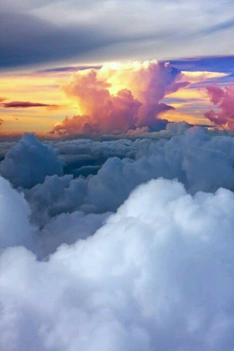 Up in the Clouds...I am still surprised when a person can see this beautiful sight and not believe in our Creator...