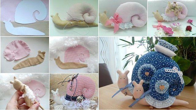 DY Cute snail pillow