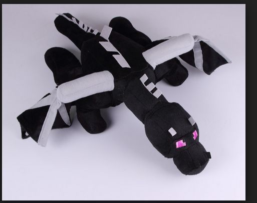 Minecraft Official Gigantic Enderdragon Dragon Deluxe Over-Sized Plush Toy 24in #Mojang