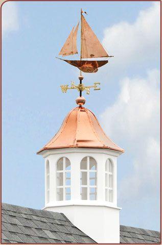 Weathervane atop cupola