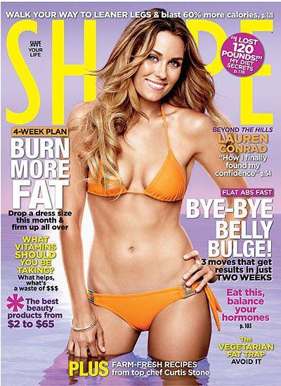 Lauren Conrad in a bikini on the cover of Shape