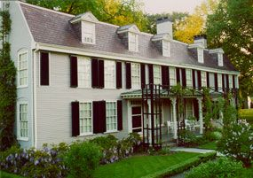 The Old House, or Peacefield to John Adams.  Quincy, Massachusetts. The John Adams and John Quincy Adams Birthplaces are the oldest presidential birthplaces in the United States.