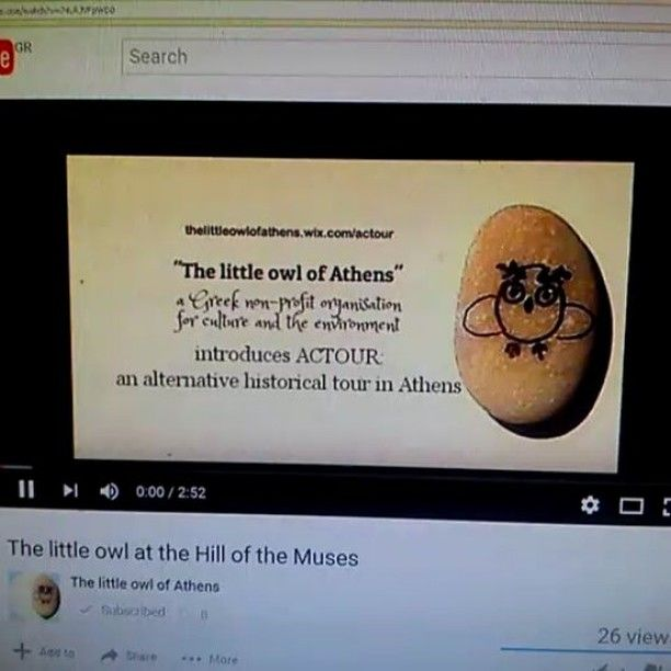 Subscribe to our channel and watch our #new #video about the #littleowl at the #HilloftheMuses #Athens #Greece . This is how the story starts: Once upon a night...https://m.youtube.com/watch?v=74LRJVFpWD0&feature=youtu.be