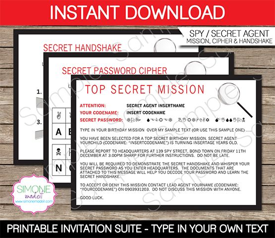 17 Best Images About Spy Secret Agent Party On Pinterest