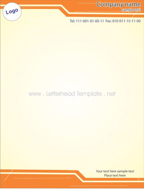 1 Curve letterhead template Preview