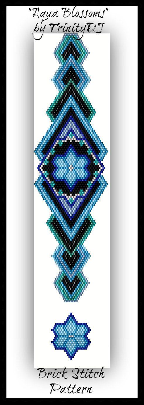 +++++++++++++++++++++++++++++++++++++++++++++++++++++++++++ Zeer populair, ontwerper, een van een soort, de mode verklaring 3D Brick Stitch armband patroon of de tutorial is deze schoonheid: Aqua Blossom +++++++++++++++++++++++++++++++++++++++++++++++++++++++++++  AQUA BLOSSOMS ontstond in brick stitch met behulp van Miyuki 11/0 Delica kralen. Dit patroon is getest in de originele en 2de heuze. De 2e afbeelding hier te zien is van de 2e heuze.  ARMBAND PATROON SPECIFICATIES…