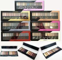 kit maquiagem 3 paletas sombra fosca 3d ruby rose atacado