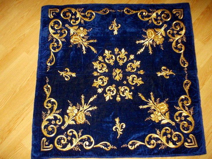 Ottoman Silk Velvet Bindallı Bohça with Gold Metallic Threads | eBay