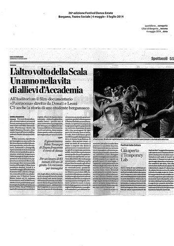 L'Eco di Bergamo 4 maggio 2014