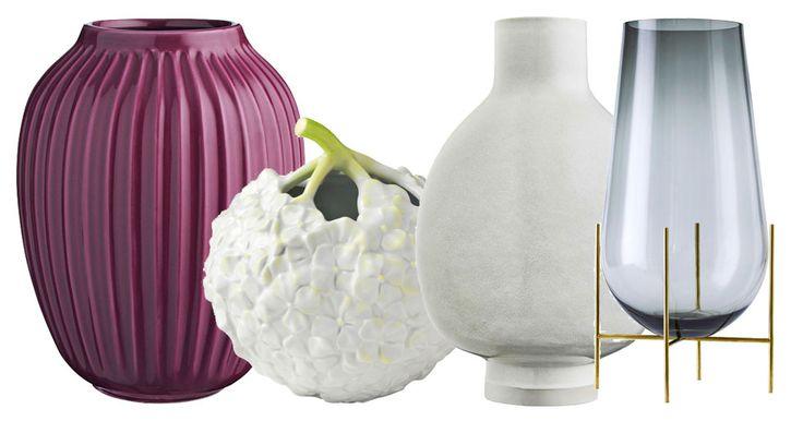 Det sägs att det finns en vas för alla blommor – och vi kan inte annat än att hålla med. Här är 7 vaser för alla tillfällen.