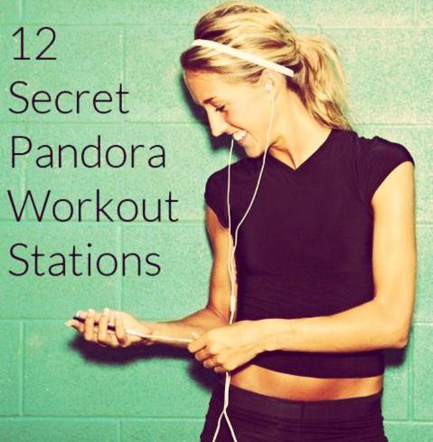 """12 Secret Pandora Workout Stations"""