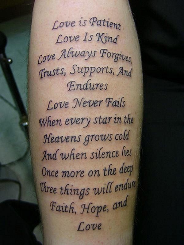 Bible Scripture Tattoos