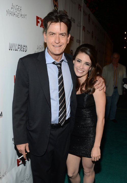 Charlie Sheen and Daniela Bobadilla