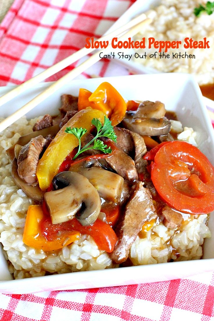 Hf ideas parrillas y asados - Slow Cooked Pepper Steak Can T Stay Out Of The Kitchen No Time For A Difficult Time Consuming Meal Try This Great Beef Entree That Cooks In The