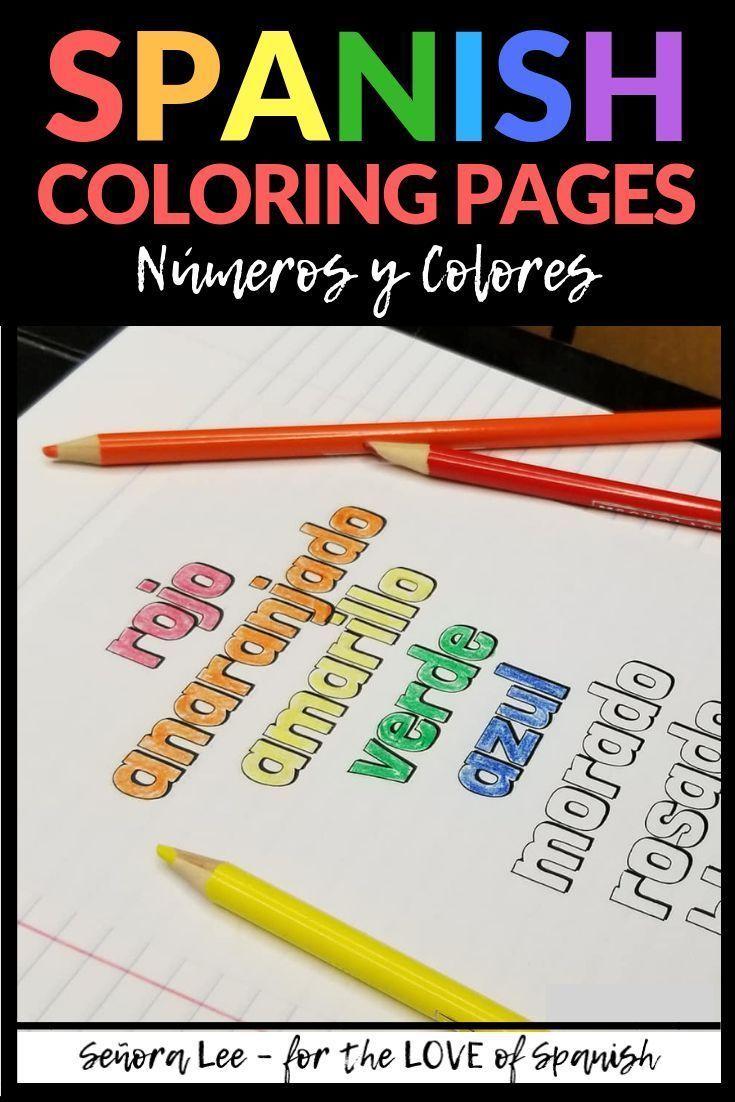 Spanish Colors Activities Spanish Coloring Pages In 2020 Spanish Colors Spanish Teacher Resources Middle School Spanish Lessons [ 1102 x 735 Pixel ]
