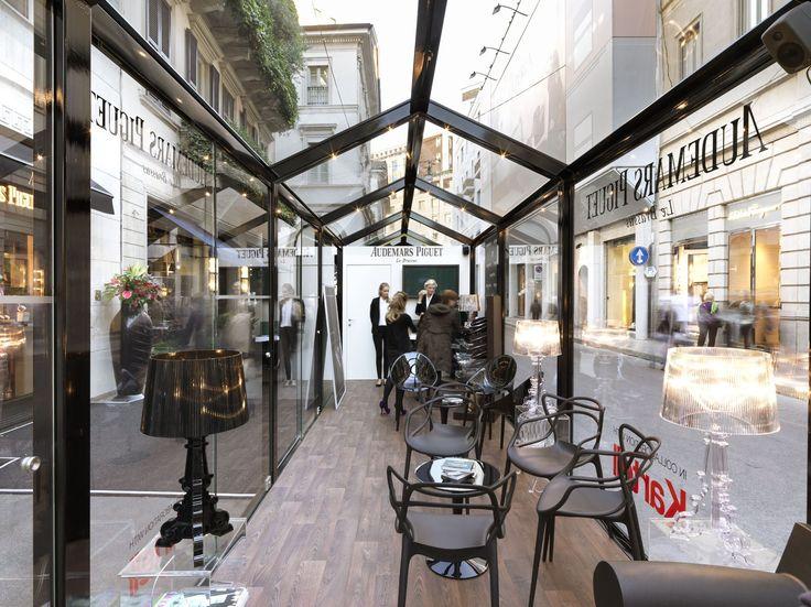GLASS HOUSE Strutture espositive per esterno Collection by CAGIS gazebo estrutura vidro restaurante