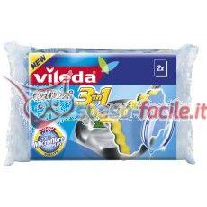 VILEDA GLITZI 3IN1 SPUGNA+RETINA 2 PEZZI Abrasivo Glitzi 3in1 Abrasivo tradizionale, spugna assorbente, microfibra, 2 pz.  Glitzi 3in1 Vileda è l'innovativa spugna abrasiva che racchiude 3 funzioni in un unico prodotto. http://www.spesa-facile.it/prodotti/vileda