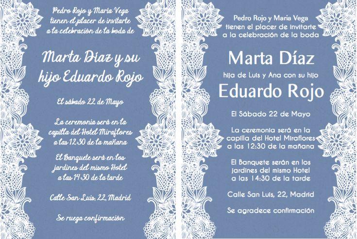 Spanish Wedding Invitations Examples: Spanish Wording For Invitations. Even Though The Wedding