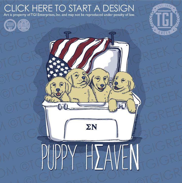 Sigma Nu | ΣΝ | Puppy Heaven | Philanthropy | Philanthropy Shirt | TGI Greek | Greek Apparel | Custom Apparel | Fraternity Tee Shirts | Fraternity T-shirts | Custom T-Shirts