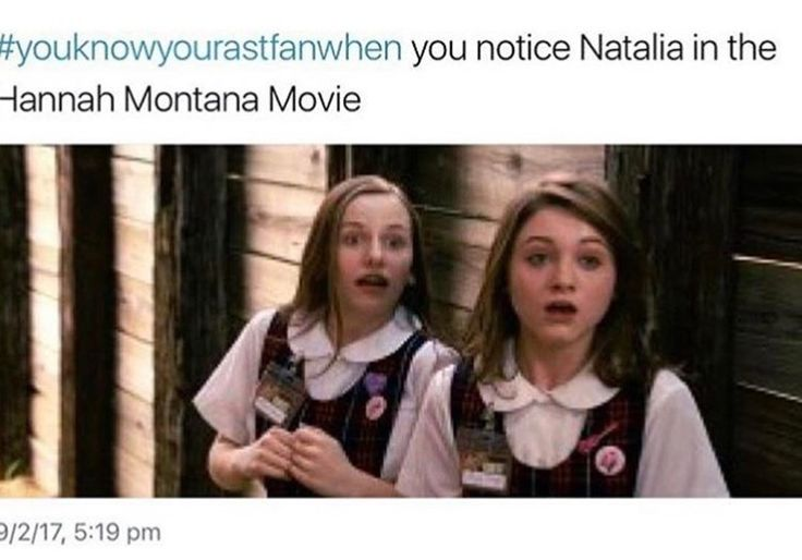 Omg I did!!! I watched Stranger Things and I went and watched the Hannah Montana movie and I was like ITS NATALIA DYERS!!!