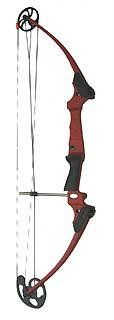 Genesis Bow, Left Handed, Red Cherry at http://suliaszone.com/genesis-bow-left-handed-red-cherry/