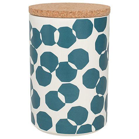 Buy John Lewis Scandi Spot Kitchen Storage Jar, 2L, Blue Online at johnlewis.com