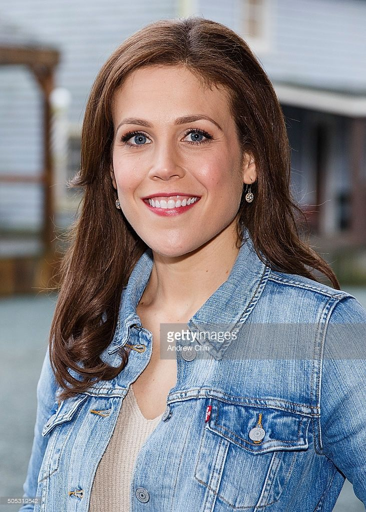 American actress Erin Krakow poses for a portrait during Hearties Family Reunion fan convention for 'When Calls The Heart' at Jamestown on January 16, 2016 in Langley, Canada.