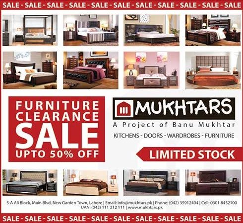 Mukhtars Furniture Clearance Sale Up To 50% Off