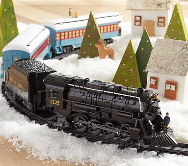 Lionel Polar Express Train #pbkids--for around the tree? This or Santa Express red one.