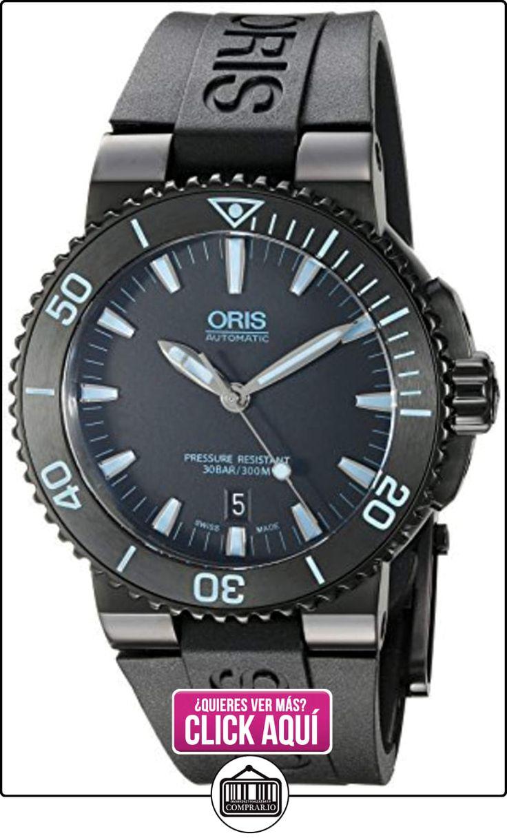 Oris Aquis de los hombres de 'Swiss automático acero inoxidable y goma reloj de buceo, color: negro (modelo: 73376534725rs) por Oris  ✿ Relojes para hombre - (Lujo) ✿ ▬► Ver oferta: https://comprar.io/goto/B01M16HVCZ