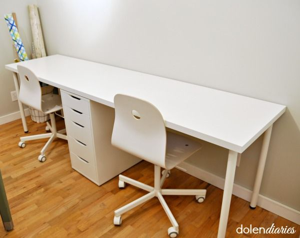 Create a two person workstation quickly and inexpensively.                                                                                                                                                                                 More