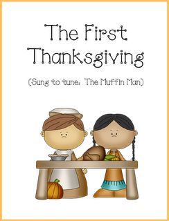 Cute song/story for The First Thanksgiving!