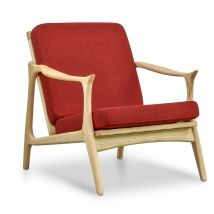 Alfred Fabric Armchair - Dark Red