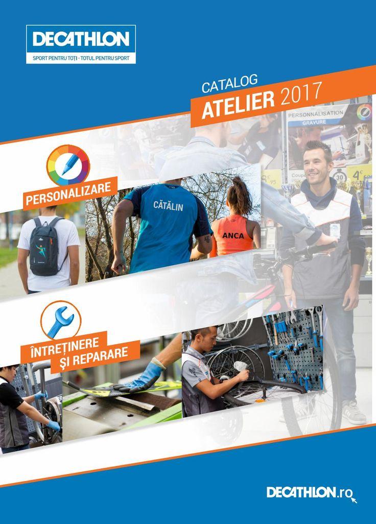 Catalog Decathlon Atelier Octombrie 2017 - Ianuarie 2018! Oferte: inscriptionare monocroma text sau numar de la 12,90 lei; inscriptionare sticker