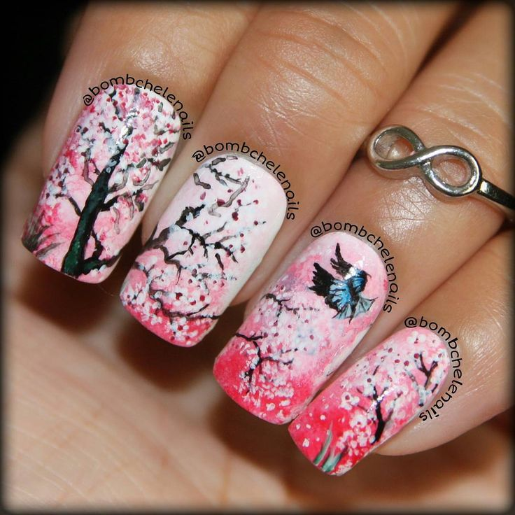 16 Super Cool Ombre Gradient Nail Art Tutorials: 1000+ Images About Cherry Blossom Inspired Nails, Makeup