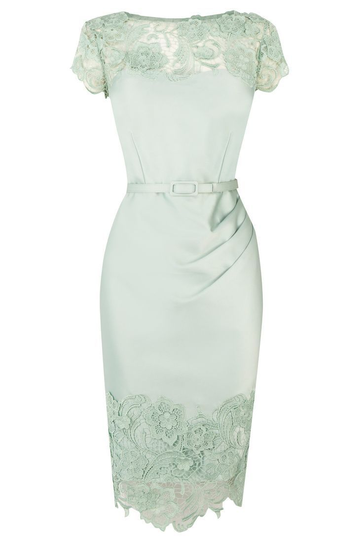 Fashion - mint green dress