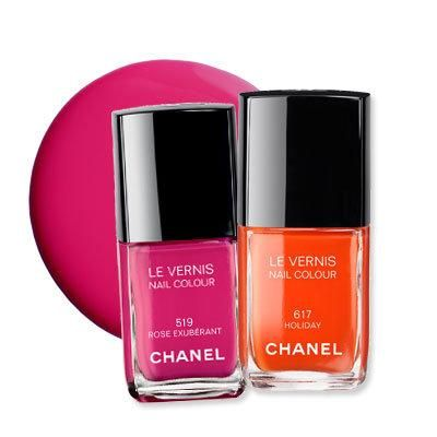 Cutest mani-pedi color combos: Chanel's Holiday and Rose Exuberant