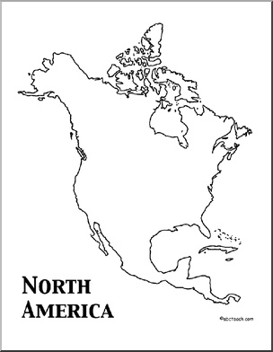 north american continent coloring page