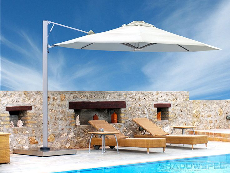 SHADOWSPEC – Global Suppliers of Luxury Outdoor Umbrella Systems   Each of our outdoor shade umbrellas is constructed using anodised aluminium, stainless steel, and other non-corrosive materials. These components make the outdoor shades durable because by making them impervious to rust. Click below for more information: USA – www.shadowspec.com  AUST – www.shadowspec.com.au  NZ/Other – www.shadowspec.co.nz