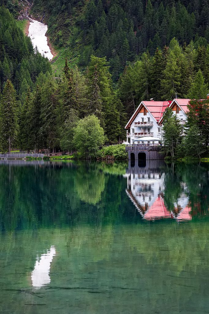 https://flic.kr/p/oRFpQq | Reflections at Antholzer See in South Tyrol, Italy. | Read more about the area around the Antholzer See in South Tyrol here. Follow us on Twitter or Cookiesound