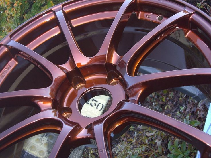 Copper wheels, Custom wheels, Powder coated wheels, Powder Coated, Powder Coating, Prismatic Powders - Super