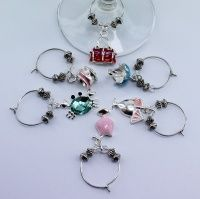 Eclectic Wine Glass Charms Set of 6