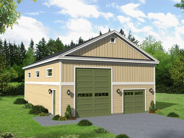 31 best drive thru garage plans images on pinterest for Drive through garage plans