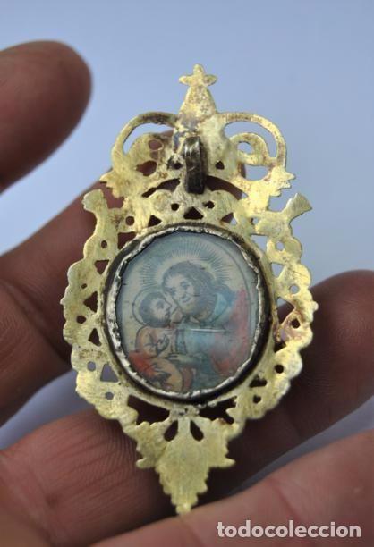 Antigüedades: MUY ANTIGUO RELICARIO DEVOCIONARIO EN ORO DE 9K CRISTAL PINTADO EPOCA BARROCA SIGLO XVII - Foto 6 - 79821021