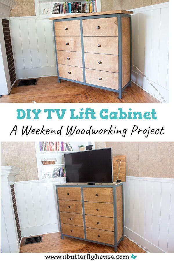 How To Build A Diy Tv Lift Cabinet Tv Lift Cabinet Diy Tv Tv