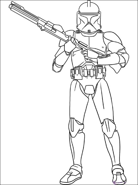 Dibujo Star Wars Clone Troopers para colorear | Dibujos para ...