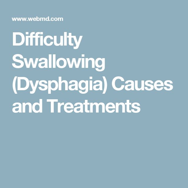 Difficulty Swallowing (Dysphagia) Causes and Treatments
