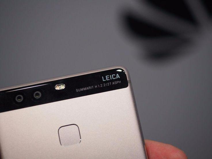 La lente de doble cámara del Huawei P9 está fabricada en China.